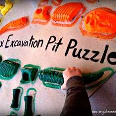 Dinosaur Excavation Pit Dig and Fossil Puzzle Birthday Party - Dinosaurs
