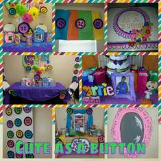 Cute As A Button - Baby Girl Shower
