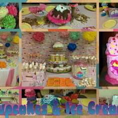 Cupcakes and Ice Cream Shower - cupcake/sweet shop