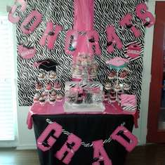 Princess College Grad - Pink/Zebra Theme