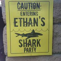 Ethan's Shark Swim Party - Sharks