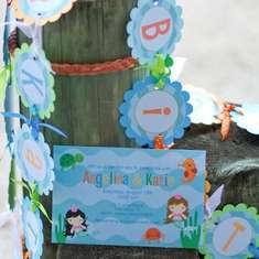 Under the Sea Pool Party - Mermaid and Sea Creatures - Summer Pool / Splash Birthday Party