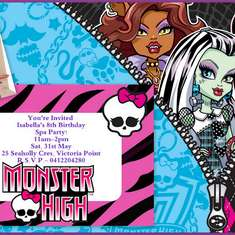 Isabella's Monster High Spa Party - Monster High Spa
