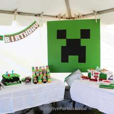 Minecraft Themed Birthday Party - Minecraft
