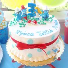 Antonis is 3! - The smurfs