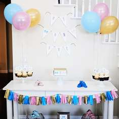Pink & Blue Moccasin Gender Reveal - Moccasins