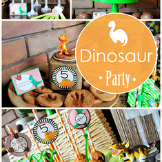 Maciek Dinosaur Birthday Party - Dinosaurs