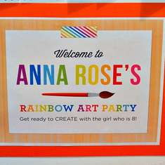 Anna Rose's Rainbow Art Party - Rainbow Art