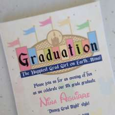 Disney themed Grad party - Disney