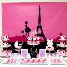 Pink Paris Themed Baby Shower - French / Parisian