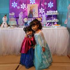 Frozen Theme Joint Birthday Party - Frozen