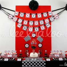 Vintage Race Car Birthday Party Theme - B1 - Race