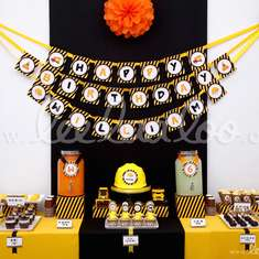 Construction Birthday Party Theme - B2 - Construction