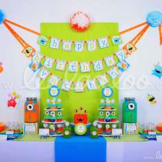 Monster Birthday Party Theme - B5 - Monsters