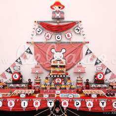 Pirate Boy Red Birthday Party Theme - B6 - Pirates