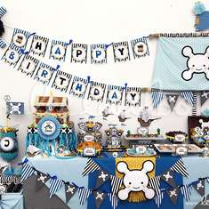 Pirate Boy Blue Birthday Party Theme - B7 - Pirates