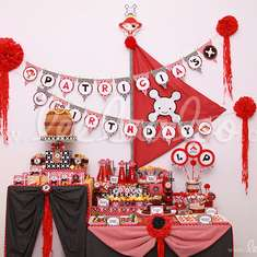 Pirate Girl Red Birthday Party Theme - B8 - Pirates
