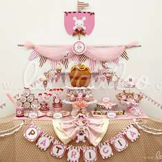 Pirate Girl Pink Brown Birthday Party Theme - B9 - Pirates