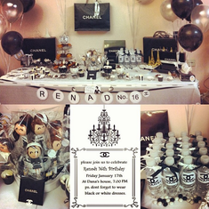 Renads sweet 16 party - Chanel