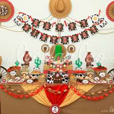 Cowboy Birthday Party Theme - B11 - Cowboy