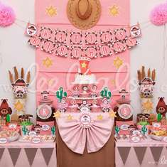 Cowgirl Birthday Party Theme - B12 - Cowgirl