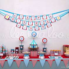Circus Blue Birthday Party Theme - B13 - Circus / Carnival
