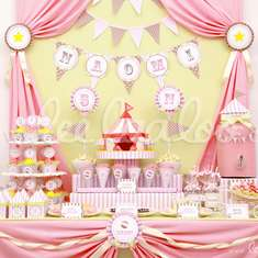 Circus Pink Birthday Party Theme - B14 - Circus / Carnival