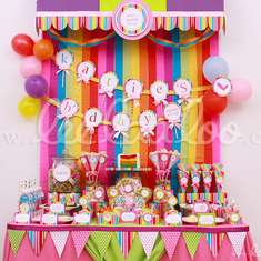 Lollipop Birthday Party Theme - B16 - Candy / Sweets / Dessert