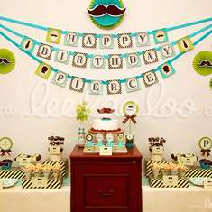 Little Man Birthday Party Theme - B17 - Mustaches / Little Man