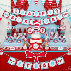 Red Hat Cat Birthday Party Theme - B20 - Dr. Seuss