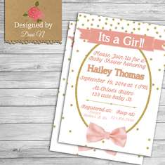 Pink and Gold Baby Shower - Glitter