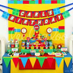 Building Block Birthday Party Theme - B21 - Legos