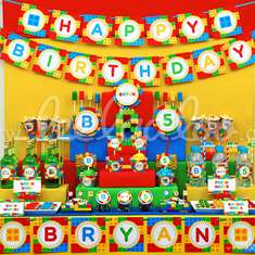 Colorful Block Birthday Party Theme - B22 - Legos