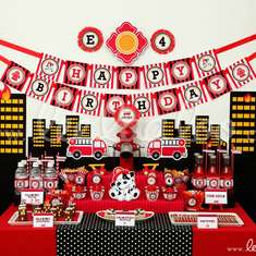 Firefighter Birthday Party Theme - B24 - Fire Truck / Firefighter