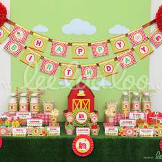 Barn Birthday Party Theme - B26 - Animals