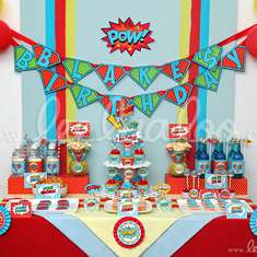 Retro Superhero Birthday Party Theme - B27 - Superheroes