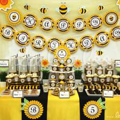 Smiling Bumblebee Birthday Party Theme - B28 - Bumble Bees