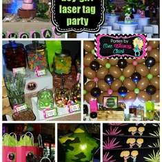 Pink and Green Camo Laser Tag Party - Laser Tag Party