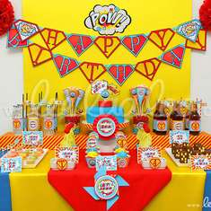 Vintage Superhero Party Theme - B32 - Superheroes