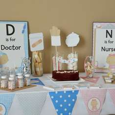 Doctor vs Nurse Baby Shower - Little Doctor Little Nurse On The Way