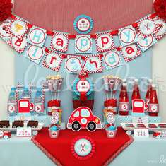 Cute Race Car Birthday Party Theme -B36 - Cars (Disney movie)
