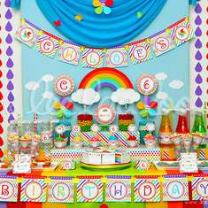 Rainbow Birthday Party Theme - B41 - Rainbows