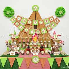 Campout Birthday Party Theme - B42 - Camping / Summer Camp