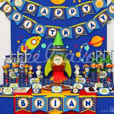 Space Rocket Birthday Party Theme - B44 - Rockets / Outer space