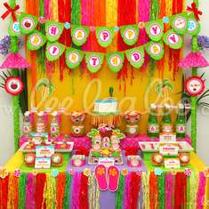 Hawaiian Luau Birthday Party Theme - B45 - Luau / Hawaiian