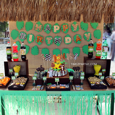 Jungle Themed 1st Birthday - Jungle