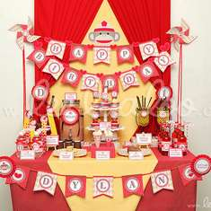 Sock Monkey Birthday Party Theme - B46 - Sock Monkey