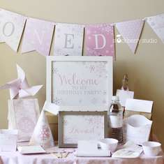 Pink Winter Onederland  - Winter Onederland
