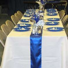 Pastor's 25th Anniversary Banquet - blue and silver