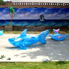 Leigha's 4th Dolphin Party - Dolphins/ luau